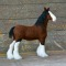 felted clydesdale