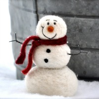 snowman felting kit