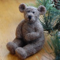 bear felting kit