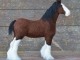 Needle Felted Clydesdale Horse by Teresa Perleberg