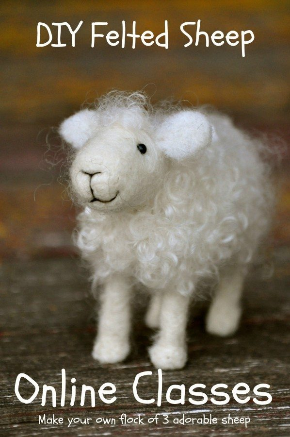 online DO IT YOURSELF needle felting class