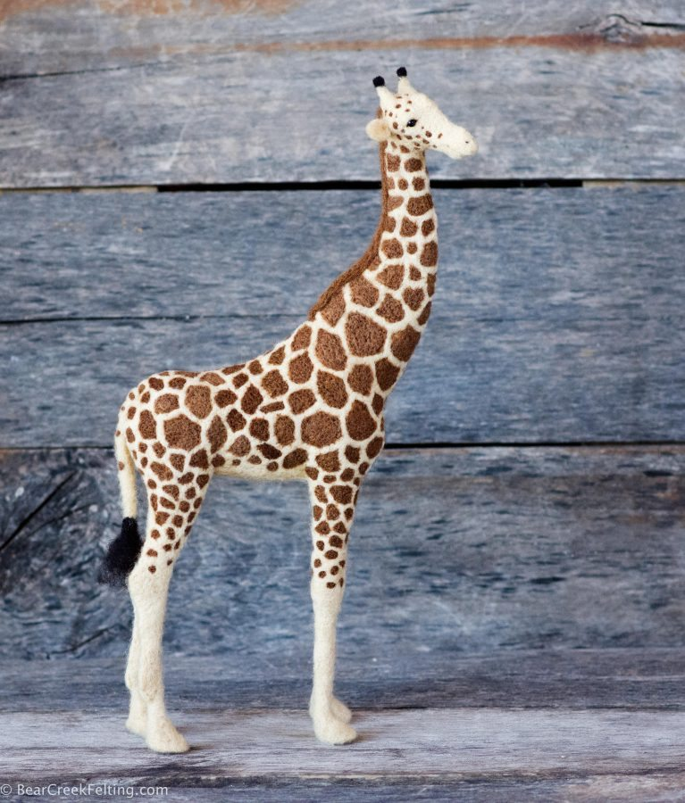 Needle Felted Giraffe by Teresa Perleberg